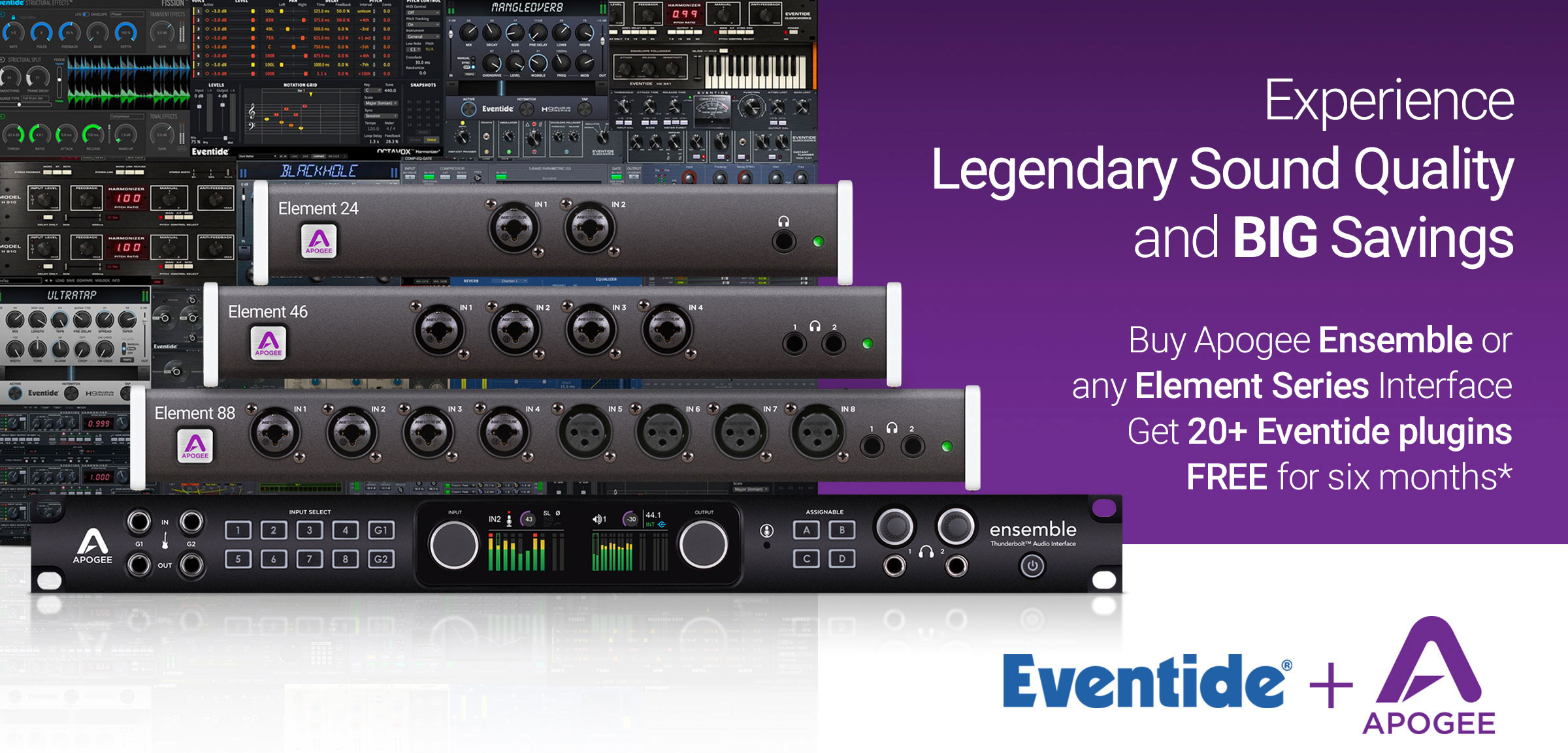 Apogee Ensemble and Elements Promotion