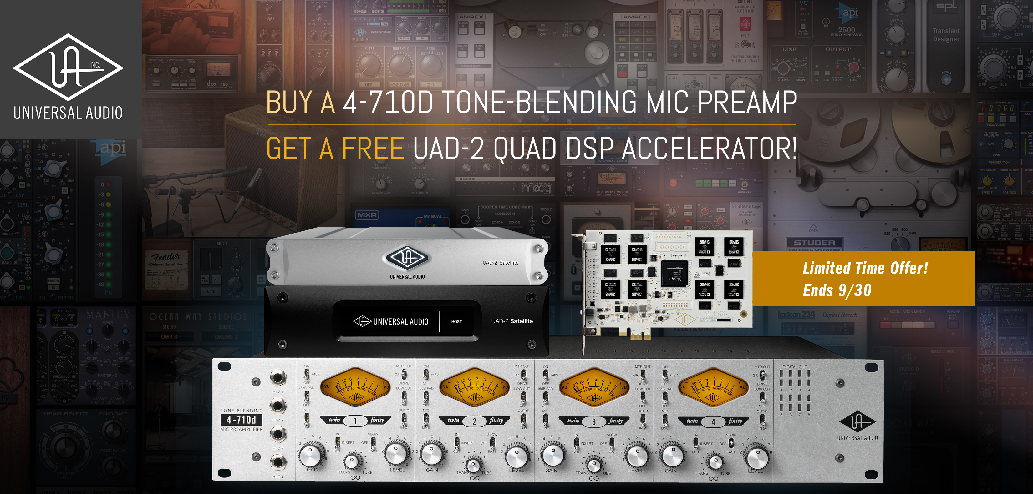 Universal Audio 4-710d Mic Preamp Sale