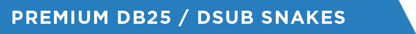 Standard DB25/Dsub Snakes